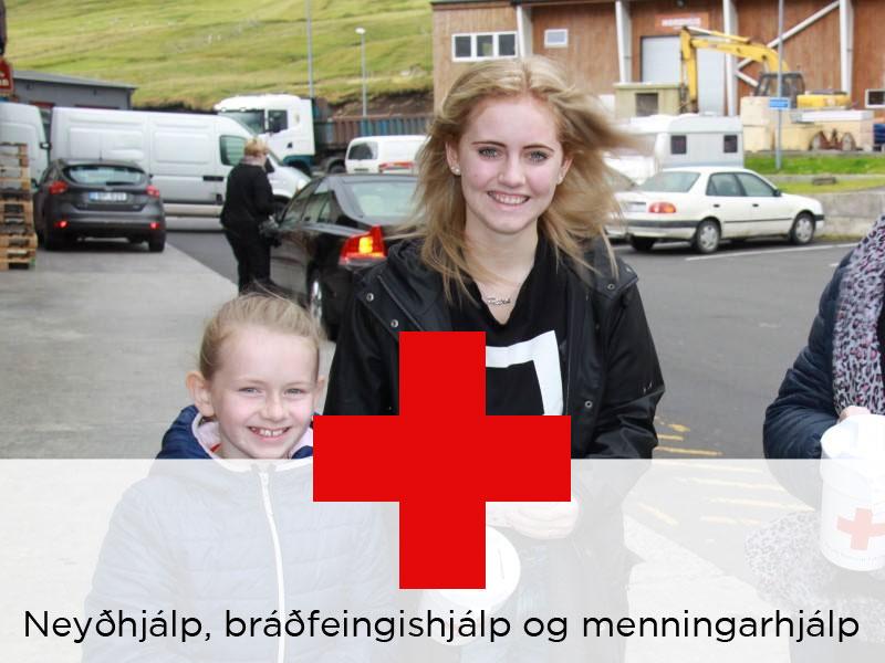 Neyðhjálp, bráðfeingishjálp og menningarhjálp